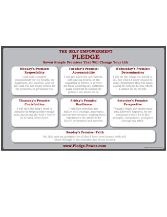 Self Empowerment Pledge