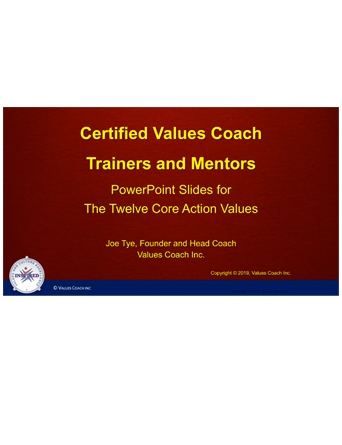 Certified Values Coach Trainers and Mentors